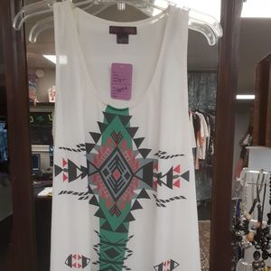 Tops - White Tank long